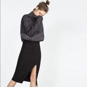Zara Skirts - Zara Asymmetrical Slit Front Pencil Tube Skirt